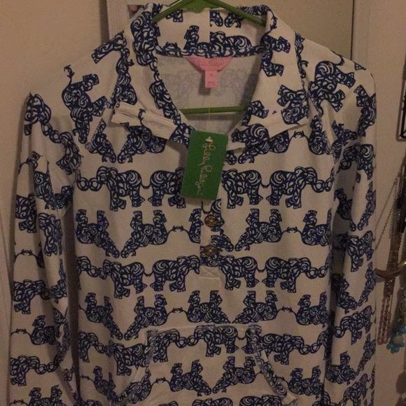 Lilly Pulitzer Tops - Lilly Pulitzer elephant pullover